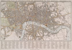 Tegg's new plan of London, &c. With 360 references to the principal streets, &c. 1830